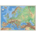 Európa felszíne falitérkép, könyöklő Nyír-Karta  70x50 cm