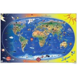 Világtérkép falitérkép világ országai könyöklő Stiefel 65x45 cm