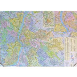 Budapest térkép, résztérkép egyedi plotter nyomtatással