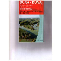 Duna vízitérkép 1. Mosoni Duna térkép Paulus 1:25 000