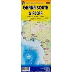 Ghana dél, Akra térkép ITM 1:1 980 000