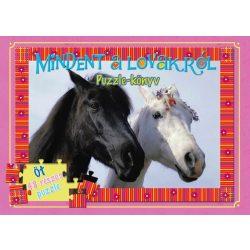 Mindent a lovakról puzzle-könyv Manó könyvek