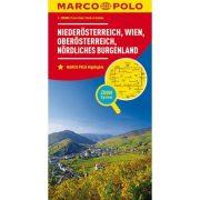 Alsó Ausztria, Bécs, Észak Burgenland térkép Marco Polo 2012 1:200 000
