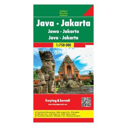 Jáva, Jakarta térkép Freytag 1:1 750 000