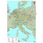 Közép-Európa falitérkép Freytag 1:2 000 000 87x123 cm