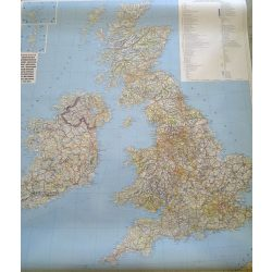 Nagy-Britannia falitérkép fóliázott Freytag 110x98 cm
