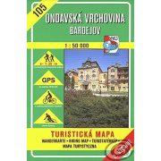 105. Ondavai dombság Nyugat turista térkép VKÚ 1:50 000
