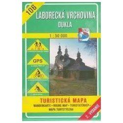 106. Laborcai hegység Duklai hágó turista térkép VKÚ 1:50 000