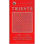 Trieste térkép Pianta 1:10 000