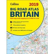 Nagy-Britannia atlasz Collins spirál óriás autós atlasz  2018-19