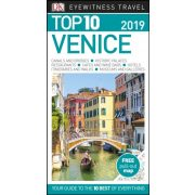 Velence útikönyv Venice Top 10 DK Eyewitness Guide, angol  2019