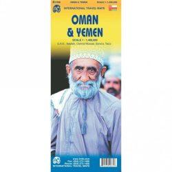 Oman, Egyesült Arab Emírségek térkép ITM 1:1 400 000  Yemen térkép