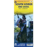Dél-Korea térkép ITM  1:550 000, 1:15 000  Seoul 2017