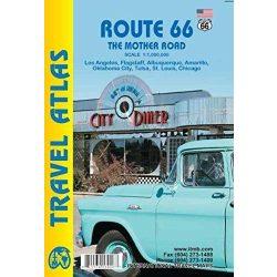 Route 66 térkép, kis autóatlasz ITMB