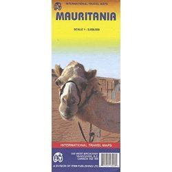 Mauritánia térkép ITM 1:2 000 000 Mauritánia autós térkép