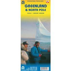 Grönland térkép ITM Greenland térkép 1:3M & North Pole Region 1:9M Északi Sark térkép