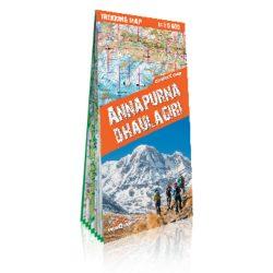 Annapurna térkép Nepál Himalaya National Geographic