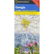 Georgia térkép, Georgia állam National Geographic