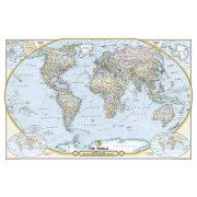 Világ országai falitérkép  politikai színezésű National Geographic 117x76 Föld országai falitérkép angol -dekoratív ünnepi kiadás