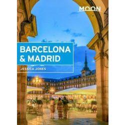 Barcelona & Madrid útikönyv Moon, angol (First Edition)