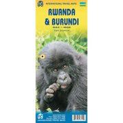 Ruanda térkép, Burundi térkép 1:1 300 000 Rwanda térkép