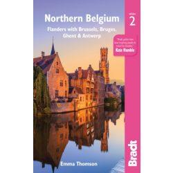 Northern Belgium útikönyv Bradt Flanders with Brussels, Bruges, Ghent and Antwerp, Brüsszel útikönyv 2019 - angol