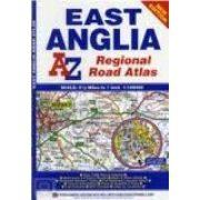 East Anglia régió térkép AZ 2014 1:158 400
