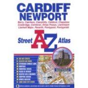 Cardiff térkép Wales, AZ kiadó  2012