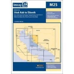 Imray Chart M25 : Otok Rab to Sibenik
