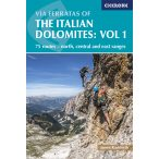 Dolomitok útikönyv, hegymászó könyv, Via Ferratas of the Italian Dolomites Volume 1 : 75 routes - north, central and east ranges 2018 angol