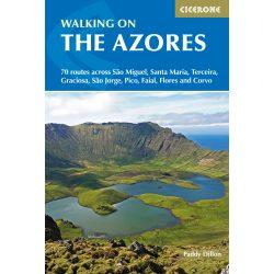 Azori-szigetek útikönyv, Azores útikönyv Walking on the Azores Cicerone Press 2019 - angol Azori útikönyv