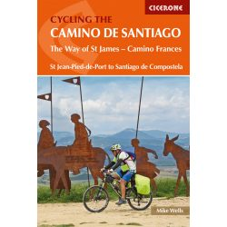 Camino de Santiago, Cycling the Camino de Santiago : The Way of St James - Camino Frances Cicerone Press 2019 angol Camino könyv, térképek