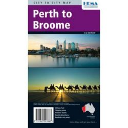 Perth térkép Hema 1:2000 000 Perth to Broome
