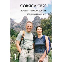 Korzika túrakalauz Corsica GR20  útikönyv Leveret Publishing, angol 2017