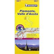 351. Piemonte Valle d Aosta térkép Michelin 1:200 000
