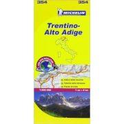 354. Trentino Alto Adige térkép Michelin  1:200 000