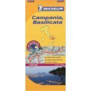 362. Campania, Basilicata térkép Michelin 1:200 000