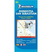 84. Donostia, San Sebastián térkép Michelin 1:9 000