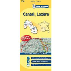 330. Cantal / Lozere térkép  0330. 1/175,000