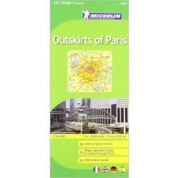 101. Párizs külterületei térkép Michelin 1:53 000