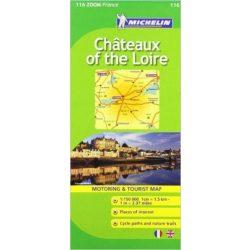 116. Loire völgy térkép, Chateaux of the Loire térkép Michelin 1:150 000