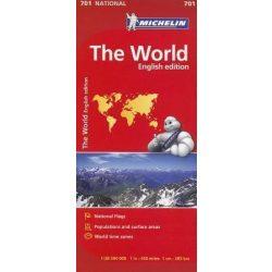 701. Világ országai térkép Michelin Politikai Világtérkép hajtogatott 1:28 500 000