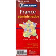 France - Administrative térkép  0728. 1/1,000,000