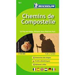 161. Chemins de Compostella térkép Michelin 1:150 000