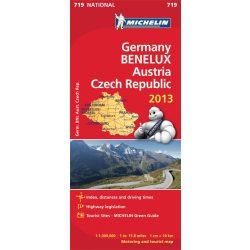 719. Németország térkép, Benelux, Ausztria, Csehország térkép Michelin 1:1 000 000