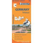 544. Közép-kelet Németország térkép Michelin 1:300 000