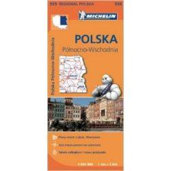 555. Lengyelország észak-kelet térkép Michelin 1:300 000