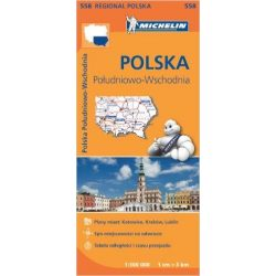558. Lengyelország dél-kelet térkép Michelin 1:300 000
