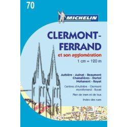 Clermont-Ferrand térkép Michelin 70.   1:12 000