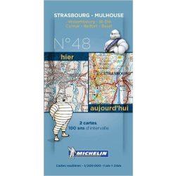 Strasbourg - Mulhouse térkép  8048. 1/200,000
